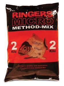 Ringers Micro Method Mix 2kg Groundbait Carp Fishing Bait