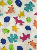 "fabric 1 1/3 yard x 62"" wide childrens print Jenny Faw for Springs Industries"