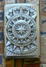 NOVELTY 3D COMPASS EMBLEM ZIPPO LIGHTER FREE P&P FREE FLINTS