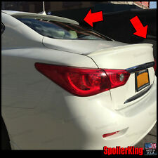 COMBO Rear Roof Wing & Trunk Lip Spoiler (Fits: Infiniti Q50 Q50s  2014-on)