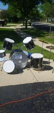 Black and white drum set 7 peices