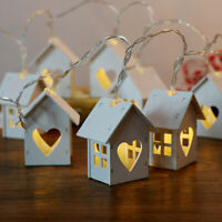 House Shaped Led String Light Wedding Party Garland Christmas Tree Decoration
