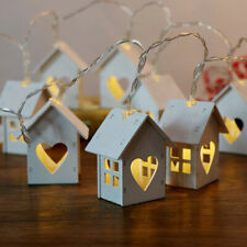 House Shaped Led String Light Wedding Party Garland Christmas Tree Decoration  L