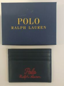 Polo Ralph Lauren Mens Leather Star Card Holder Wallet Insert Brand New With Box