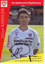 FOOTBALL carte joueur MILAN RASINGER équipe SV STADTWERKE KAPFENBERG signée