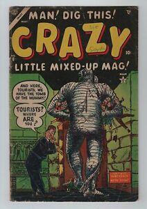 Atlas 1954 CRAZY No. 6 VG 4.0 MAD-like Parody Comic MUMMY WALKS, MEN FROM MARS+