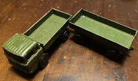 Lesney Matchbox Mercedes Truck & Trailer Army Diecast 2 Piece Collectable