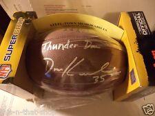 DAN KREIDER PITTSBURGH STEELERS SIGNED W/ THUNDER INSCR FOOTBALL W/ COA +
