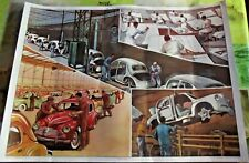 Affiche scolaire Rossignol Vintage Fabrication 4cv 1953. 76x56cm Dinky Toy EO.