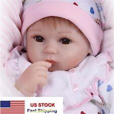 "17"" Lifelike Newborn Silicone Vinyl Reborn Baby Doll Full Body Handmade Gifts"