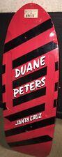 Santa Cruz Duane Peters Red Stripe Pig Reissue skateboard Deck Rails Wheel Wells