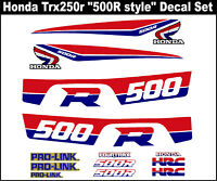 "/""250r style/"" Decals for a Honda 400ex    TRX400ex TRX 400ex Fourtrax Sportrax"