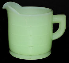 Hocking Green Clambroth One Cup Measuring Cup --- Scarce