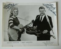 Donna Darlene and Shot Jackson signed 8x10 photo autographed Vintage Country