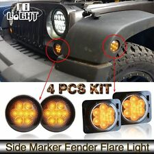 Jeep Wrangler JK LED Turn Signal & Fender Side Light Combo Smoke Lens Fits: Jeep