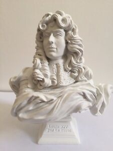 LOUIS XIV KING BUST STATUE SCULPTURE FIGURINE ROYAL HISTORY FRANCE VERSAILLES AA