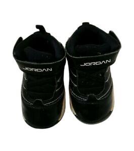 Jordan Sneaker Shoes Black Gray White Baby Boy Size 4C