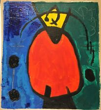 JOAN MIRO HAND PAINTED AND SIGNED SIGNATURE - ABSTRACT ON CANVAS