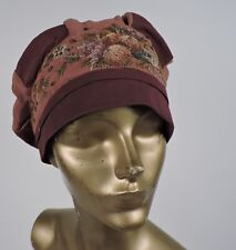 New listing 1920'S Hand Embroidered Cloche Hat W Florals As Found