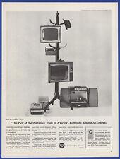 Vintage 1964 Rca Victor Portable Television Tv Radio Phonograph Print Ad 1960's