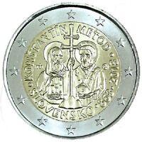 MONETA 2 EURO SLOVACCHIA 2013 MISSIONE DI COSTANTINO KONSTANTIN METOD MORAVIA