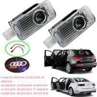 Car Door LEDs Projector Laser Logo+Text For Audi A8/7/6/5/4/3/1 R8 TT Q7 Q5 Q3