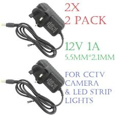 (2x) 12V 1A DC Adapter Charger Power Supply UK Plug for CCTV Camera/ LED Strips