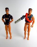 2 alte Hasbro Action Man Figuren 1996 1999 Actionfiguren Aqua Blaster 30cm