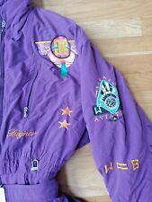 Vintage Bogner Purple Southwestern Snow Suit Ski. Sz 14 Patches USA Deep Snow