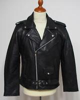Marlon Brando weiches Nappa Leder Glattleder Jacke im Biker Style Größe S - 4XL