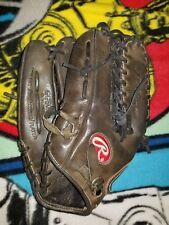 "Black Leather Baseball Mitt/Glove Rawlings Pro Trap-Eze Model GG601G 12 3/4"""