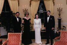 President Ronald Reagan Nancy Princess Diana Charles White House Modern Postcard