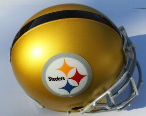 Pittsburgh Steelers Custom Blaze Football Helmet Decals Used Ben Roethlisberger