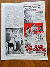 1939 Old Drum Brand Blended Whiskey Ad