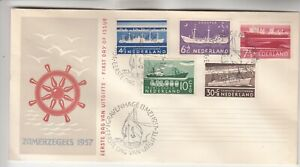 Netherlands Zomerzegels 1957 First Day Cover
