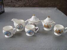 Child's Tea Set Pcs..Bone China/England..Pictures of Queen Elizabeth