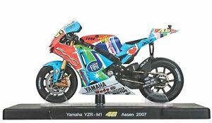 Altaya 1:18 Rossi Bike Collection Yamaha YZR-M1 2007 Model Motorcycle Motorbike