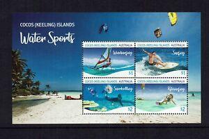 COCOS ( KEELING ) ISLANDS...2019 WATER SPORTS...MINI - SHEET ...MUH