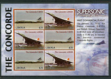 Libéria 2006 MNH Concorde supersonique Commercial 1er vol 6v timbres de M/S