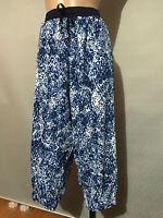 BNWT Womens Sz 24 Autograph Brand Lovely Print Elastic Waist Crop Pants RRP $40