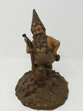"Tom Clark Gnome - ""Zermatt"" 1986 #69 - Wood Spirit with large pipe - 8-1/2"" tall"