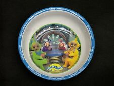 1998 Teletubbies 'Tubby Custard' Plastic Cereal Bowl with Blue Rim