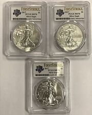 (3) 2017 $1 Silver Eagle PCGS MS70 First Strike - 225 Years  - Consecutive SN#s