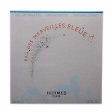 HERMES EAU DES MERVEILLES BLEUE EAU DE TOILETTE NATURAL SPRAY 50ML NIB-39053