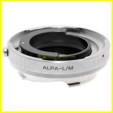 Adattatore LM-Alpa. Adapter per obiettivi Alpa su fotocamera Leica M