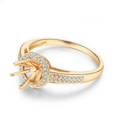 Round 6mm Anniversary Flawless Ring 0.2ct Natural Diamonds Solid 10K Yellow Gold