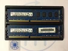 8GB (2x 4GB ) PC3 12800U 1600MHz SK Hynix Desktop RAM Arbeitsspeicher DDR3