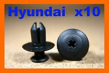 10 Hyundai Wheel arch lining panel mud guard plastic fastener screw clips 8mm
