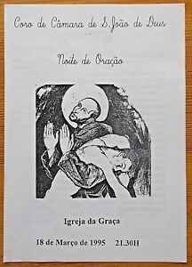 Coro de Camara de S. Joao de Deus noite de Oracao programme 1995 Igreja da Graca