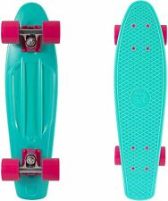 "Retrospec Quip Skateboard 22.5"" Classic Retro Plastic Cruiser Complete Skateboar"